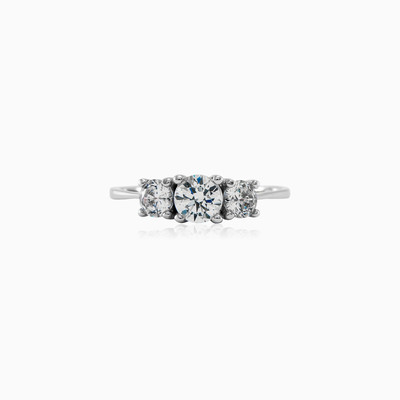 Three stone ring woman engagement rings
