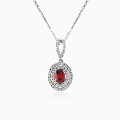 Oval garnet necklace woman necklaces Royal