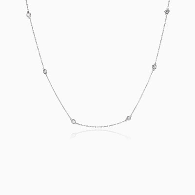 Long bezel necklace woman necklaces Shine bright
