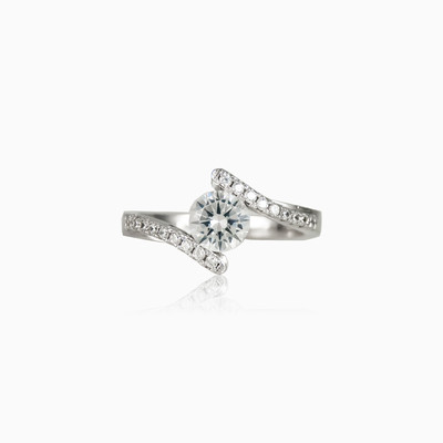 Fancy crystal ring woman engagement rings