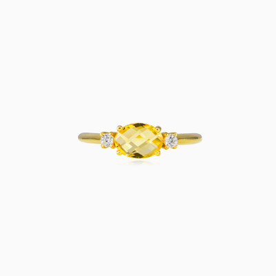 Citrine gold ring woman Rings