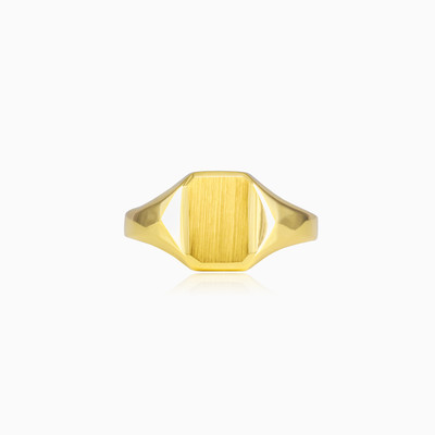 Small gold ring unisex Rings Lustrous