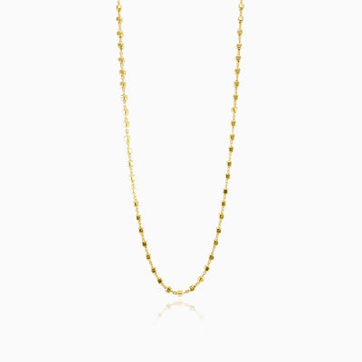 Gold plated square beads chain unisex chaînes