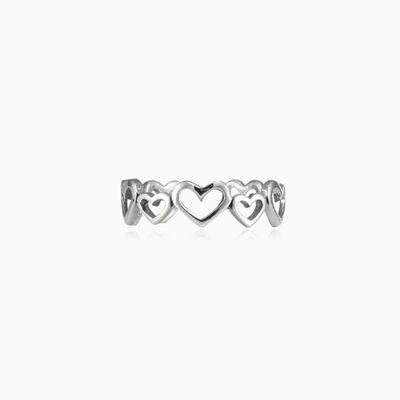 Infinity heart ring woman Rings