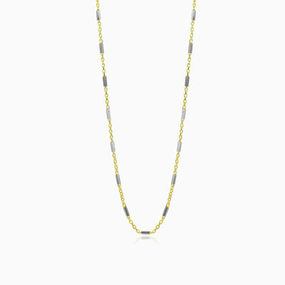 Link bar gold chain unisex chaînes