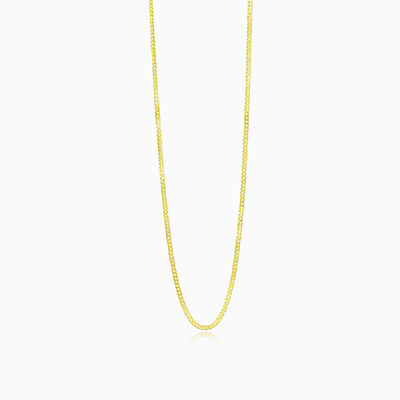 Thin curb gold chain unisex chaînes