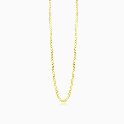 Medium gold curb chain unisex chaînes