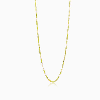 Links and flat bar gold chain unisex chains Harmony