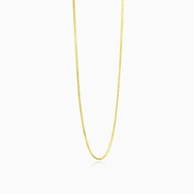Thin box gold chain unisex chains Harmony