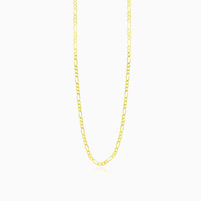 Figaro gold chain unisex chains