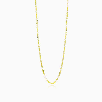 Thin gold cable chain unisex chaînes